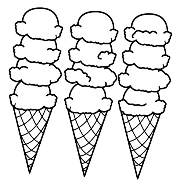 600x608 Snow Cone Coloring Sheet Ice Cream Page