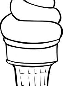 204x280 Soft Serve Ice Cream Cone B And W Clip Art Vector Clip Art Free