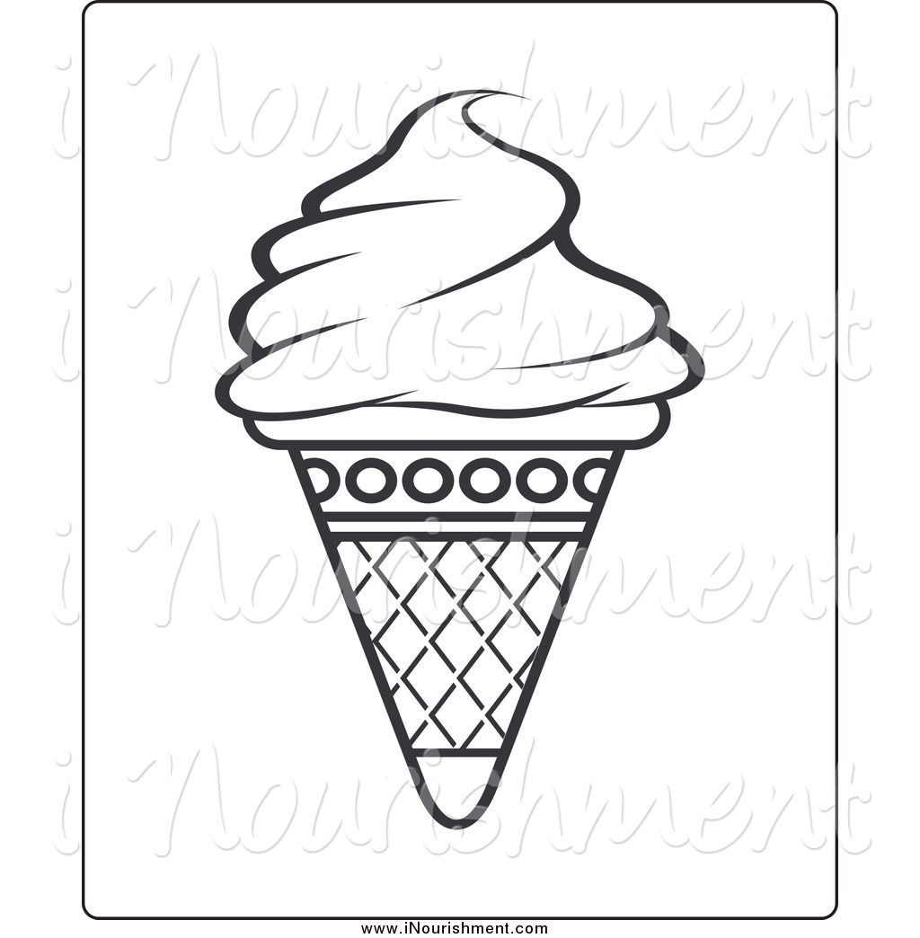 1024x1044 Waffle Cone Clipart Black And White
