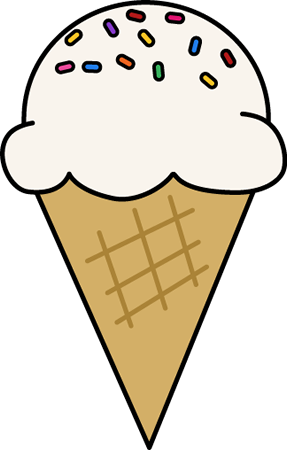 287x450 Black And White Ice Cream Cone Clipart Clipartfox