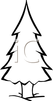 185x350 Pine Tree Clipart Black And White