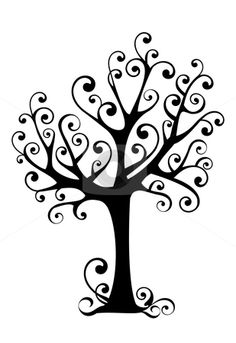 236x343 Clipart Trees Black And White