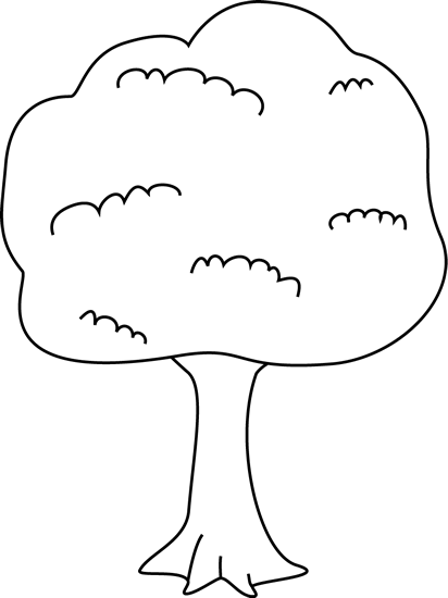 412x550 Black And White Tree Clip Art