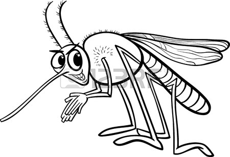 450x307 Cartoon Illustration Of Funny Mosquito Insect Character Royalty