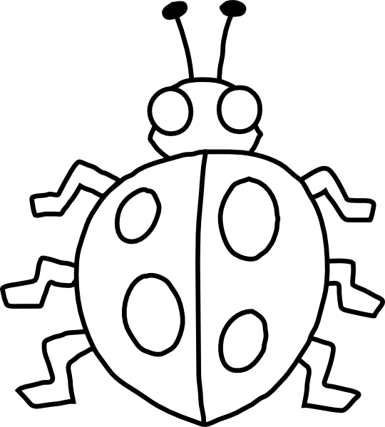 540x599 Insect Clipart Black And White Free Images 5