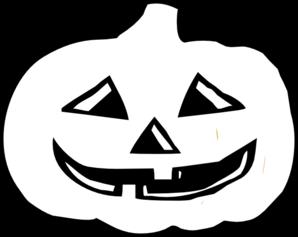 298x237 Jack O Lantern Bampw Clip Art