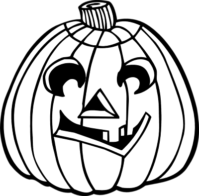 400x394 Jack O Lantern Clipart Black And White Clipart Panda