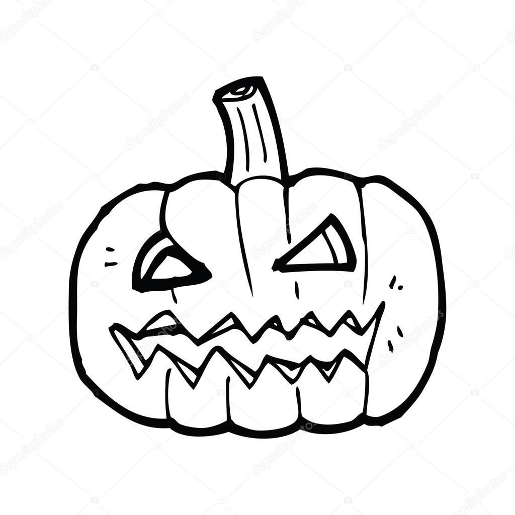 1024x1024 Jack O Lantern Cartoon Stock Vector Lineartestpilot