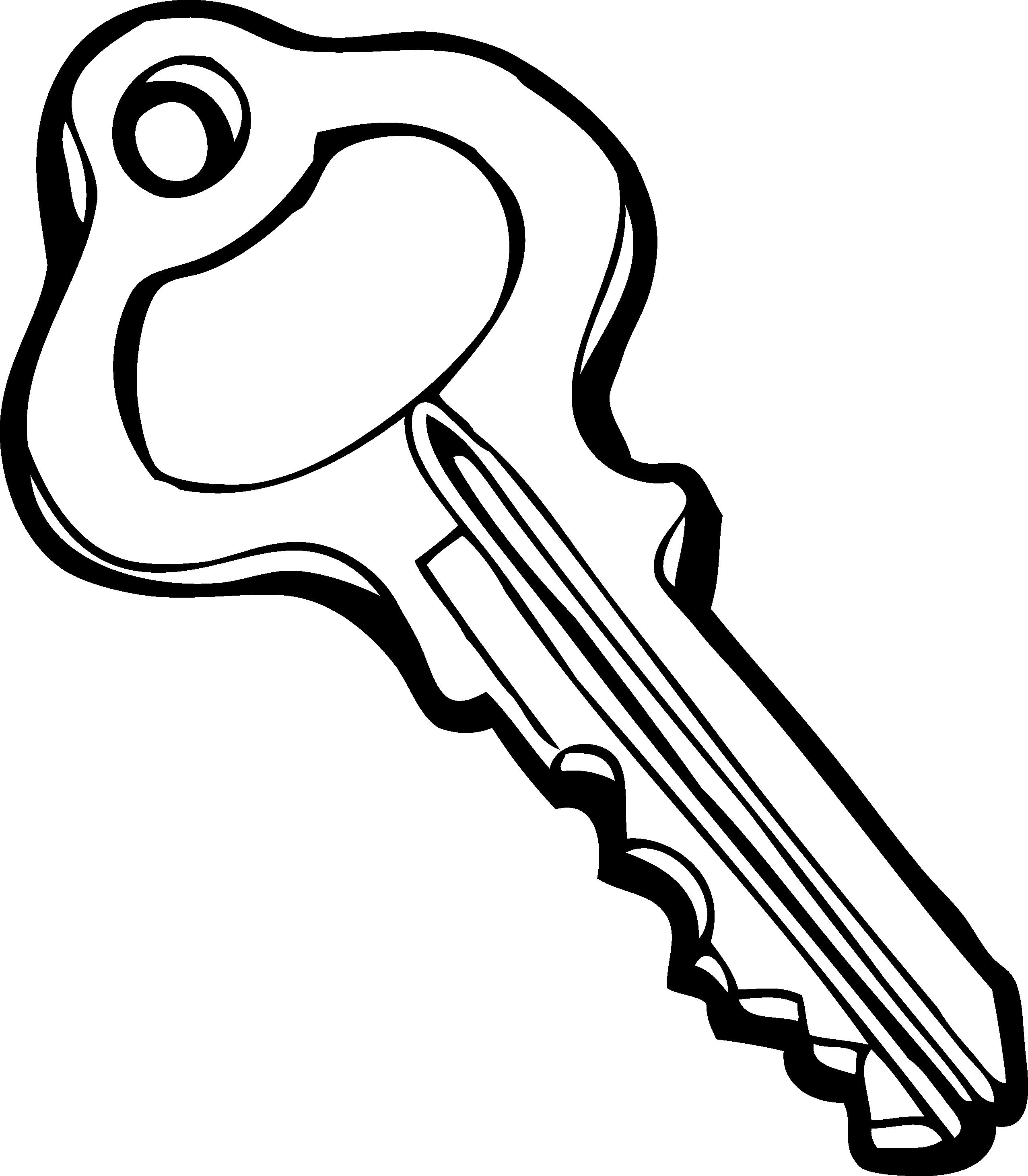 2555x2924 Key Clipart Black And White