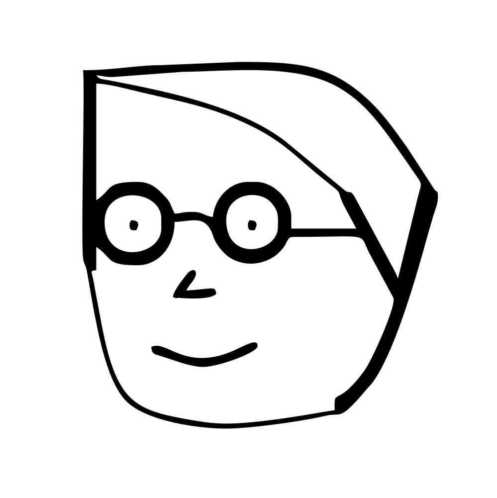 999x1001 Original Boy Character White Key Chain (Black Graphic)