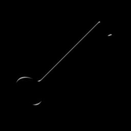 256x256 Skeleton Key Clipart Black And White