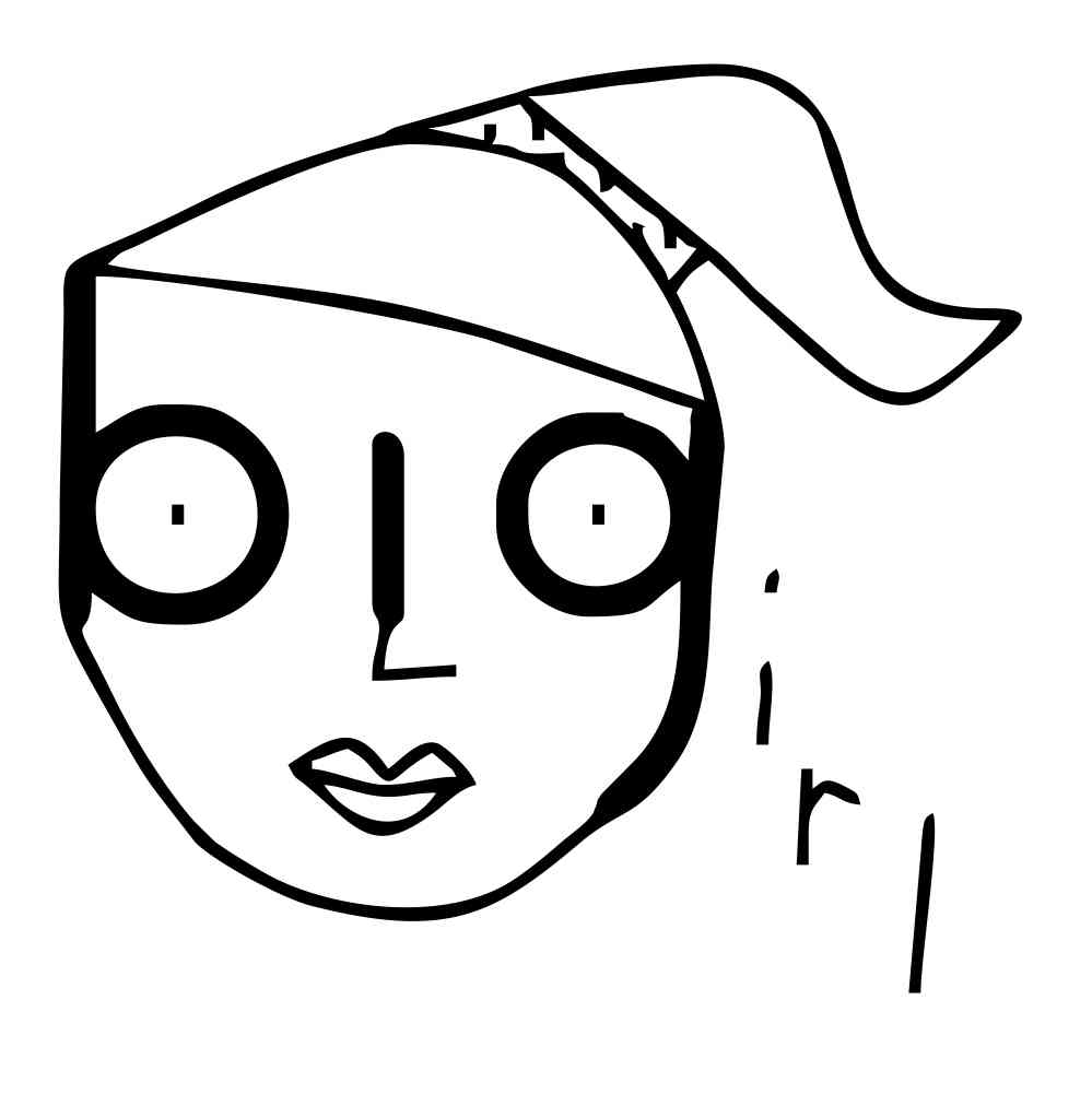 999x1001 Big Girl 2 Character White Key Chain (Black Graphic)