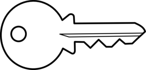 298x144 Black Amp White Clipart Key