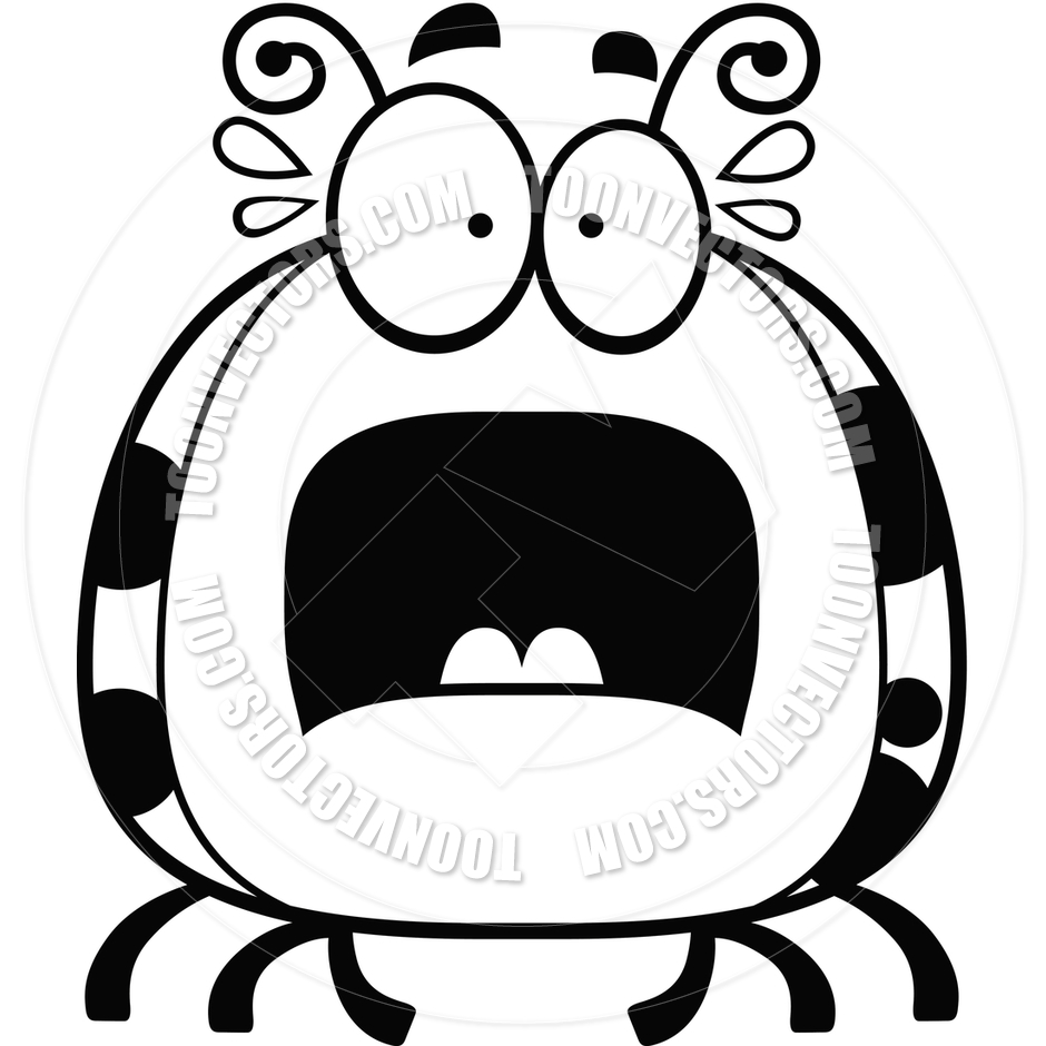 940x940 Cartoon Little Ladybug Scared (Black And White Line Art) By Cory