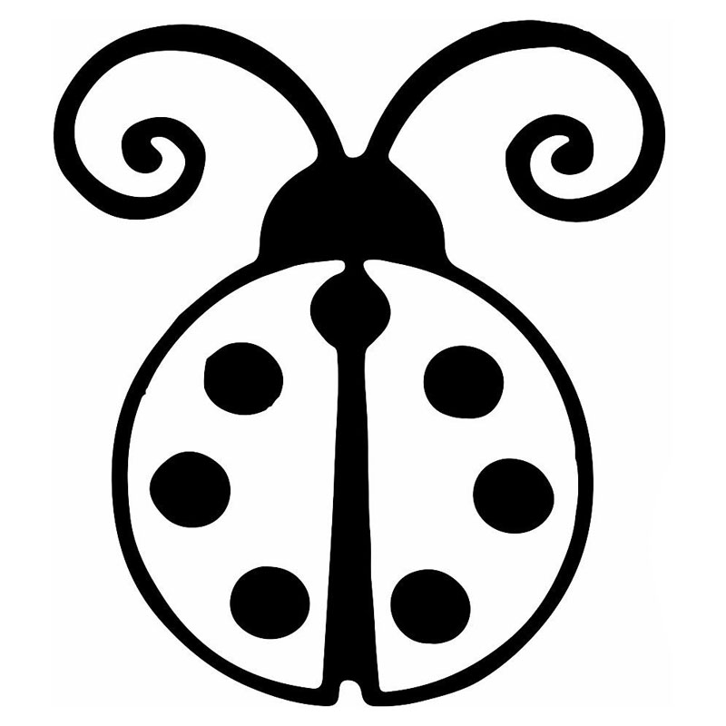 800x800 Ladybug Clipart Black And White