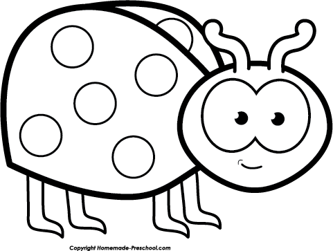 481x363 Ladybug Clipart Black And White