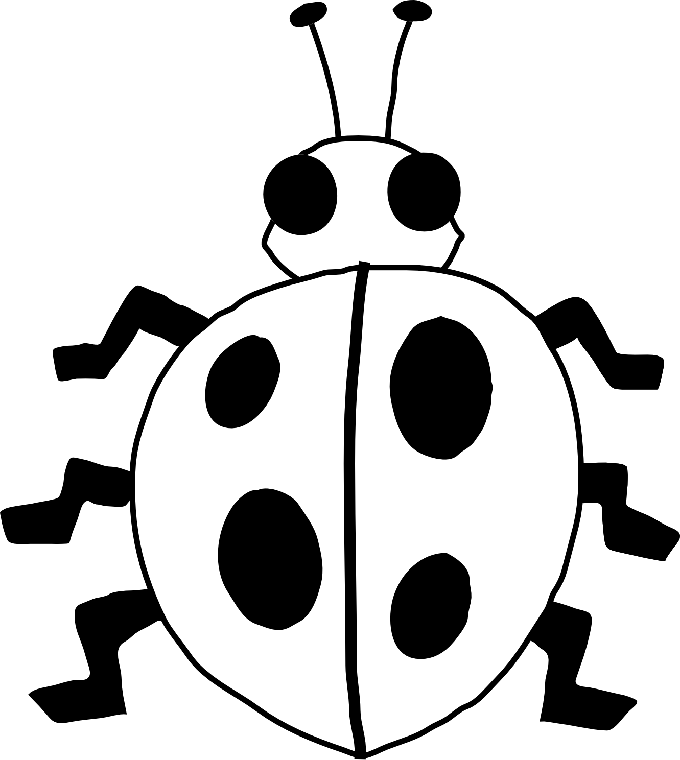 1331x1488 Ladybug Outline Ladybug On Flower Clipart Free Images