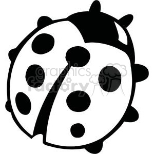 300x300 Royalty Free Black And White Ladybug 379694 Vector Clip Art Image