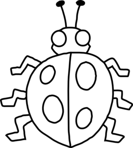 270x300 Free Black And White Ladybug Clipart