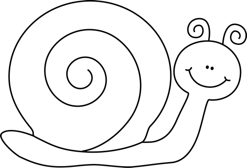 500x340 Black And White Snail Clip Art