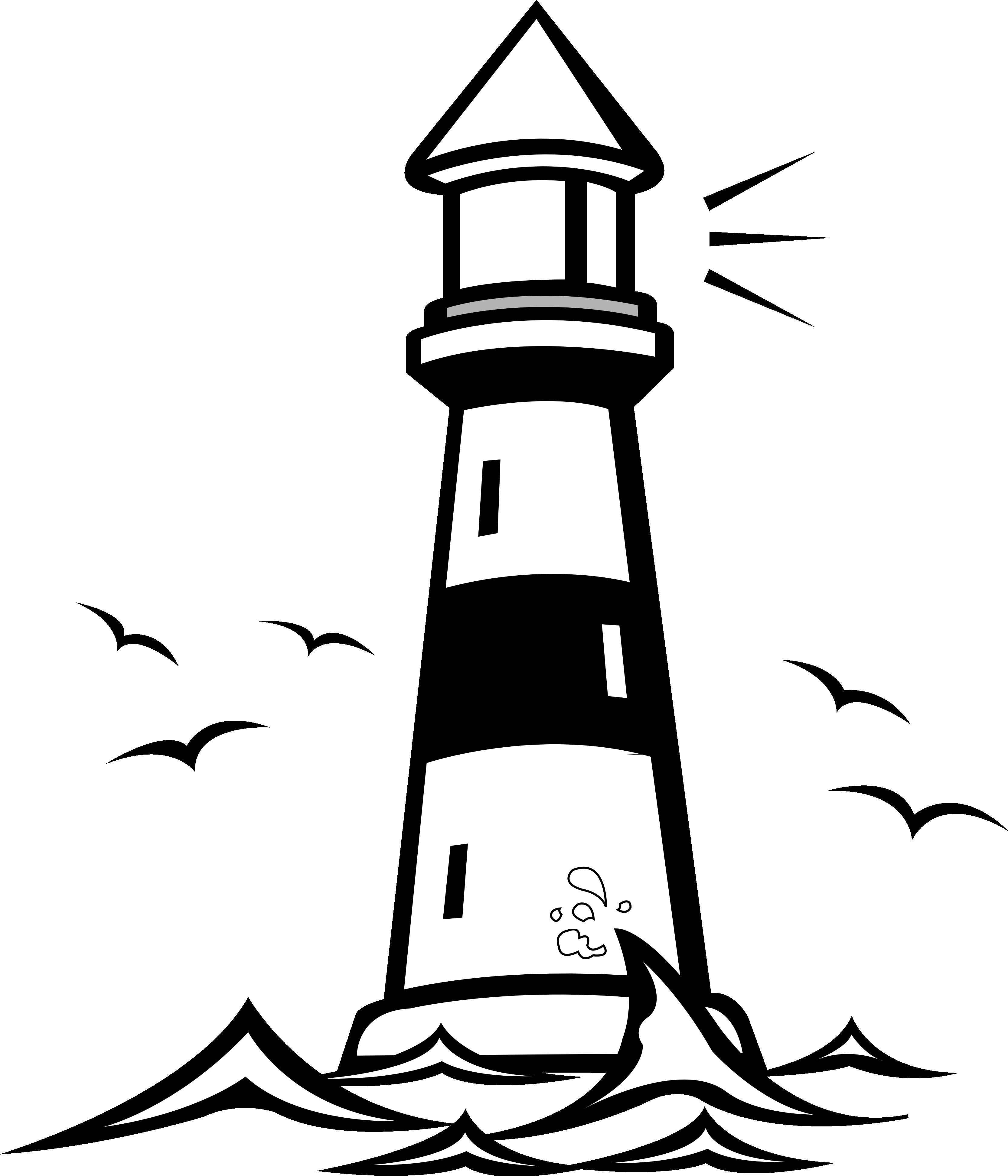 3333x3890 Light House Clip Art Clipartsco, Lighthouse White Black Background