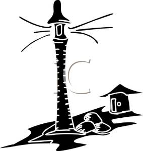284x300 Picture Black And White Lighthouse