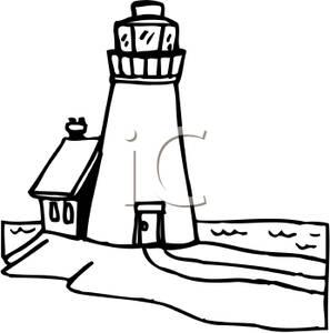 297x300 Art Image Black And White Lighthouse
