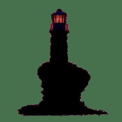 400x400 Black White Lighthouse Clipart Transparent Png