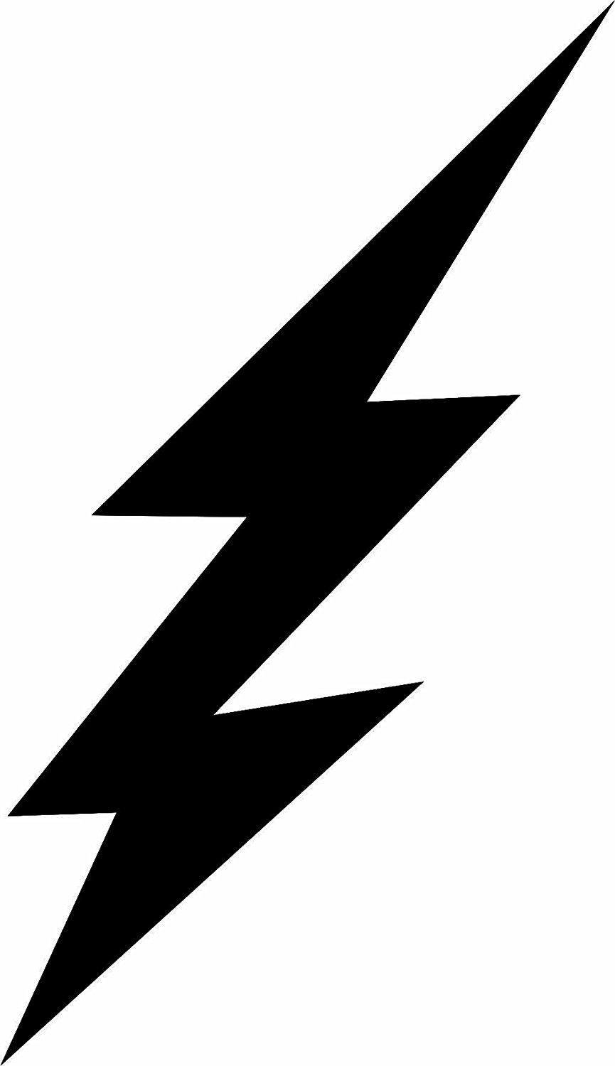 Black And White Lightning Bolt