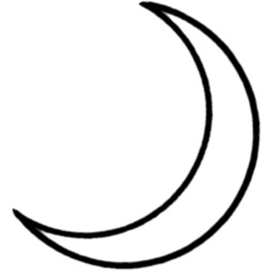 300x300 Moon Black And White Crescent Moon Black And White Clipart