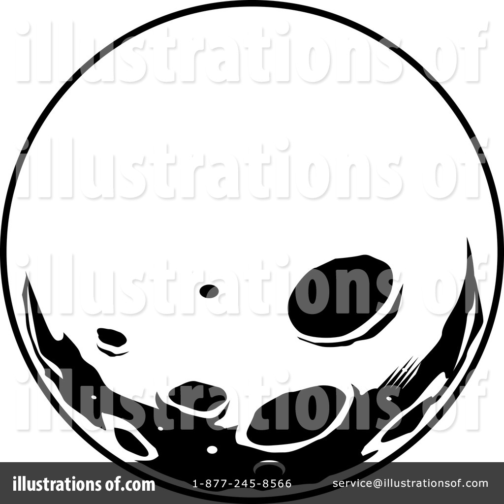 1024x1024 Scary Full Moon Black And White Clipart