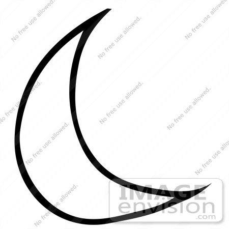 450x450 Clipart Of A Crescent Moon In Black And White