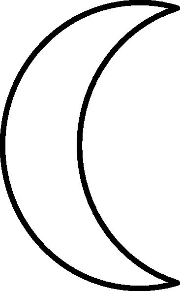 366x591 Crescent Moon Clip Art