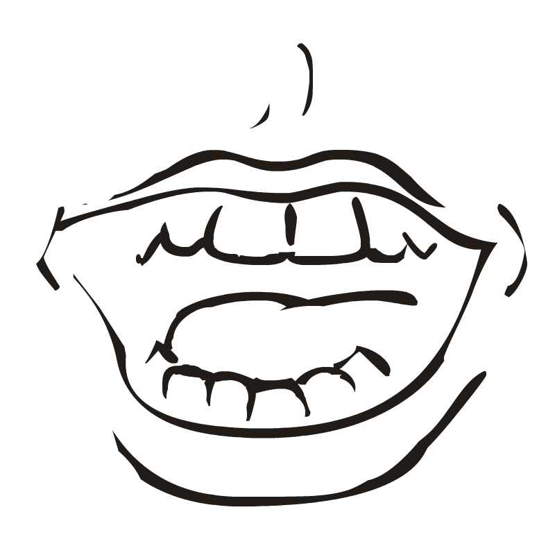 800x800 Lips Black And White Mouth Smile Clipart Black And White