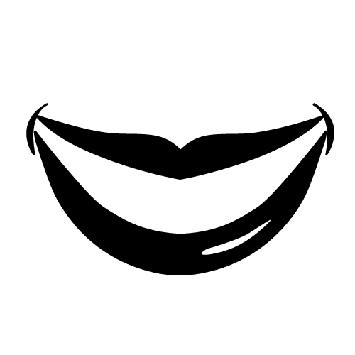 500x500 Smile Clipart Black And White