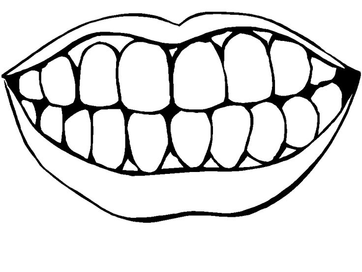 736x552 Teeth Clipart Black And White