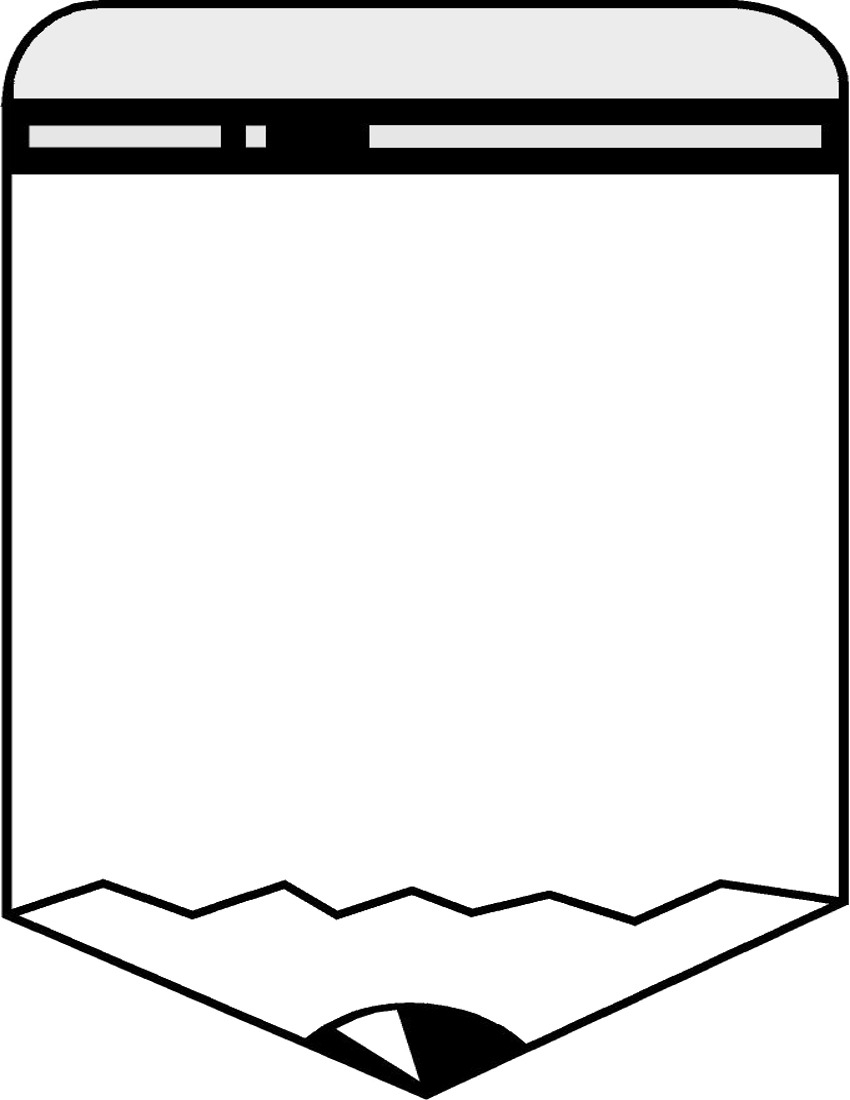850x1100 Pencil Border Design Black And White Black And White Page Borders