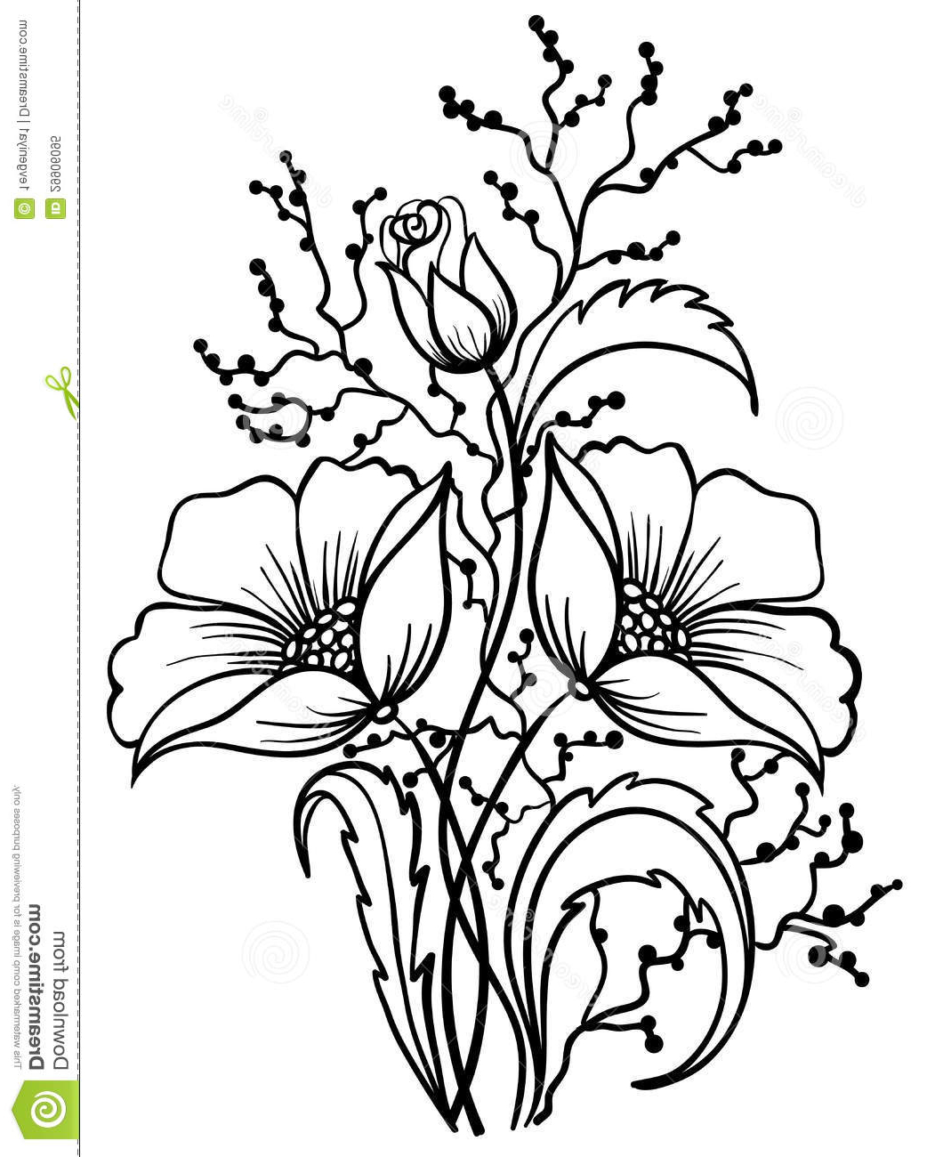 Black And White Pictures Of Flowers To Draw Free Download Best