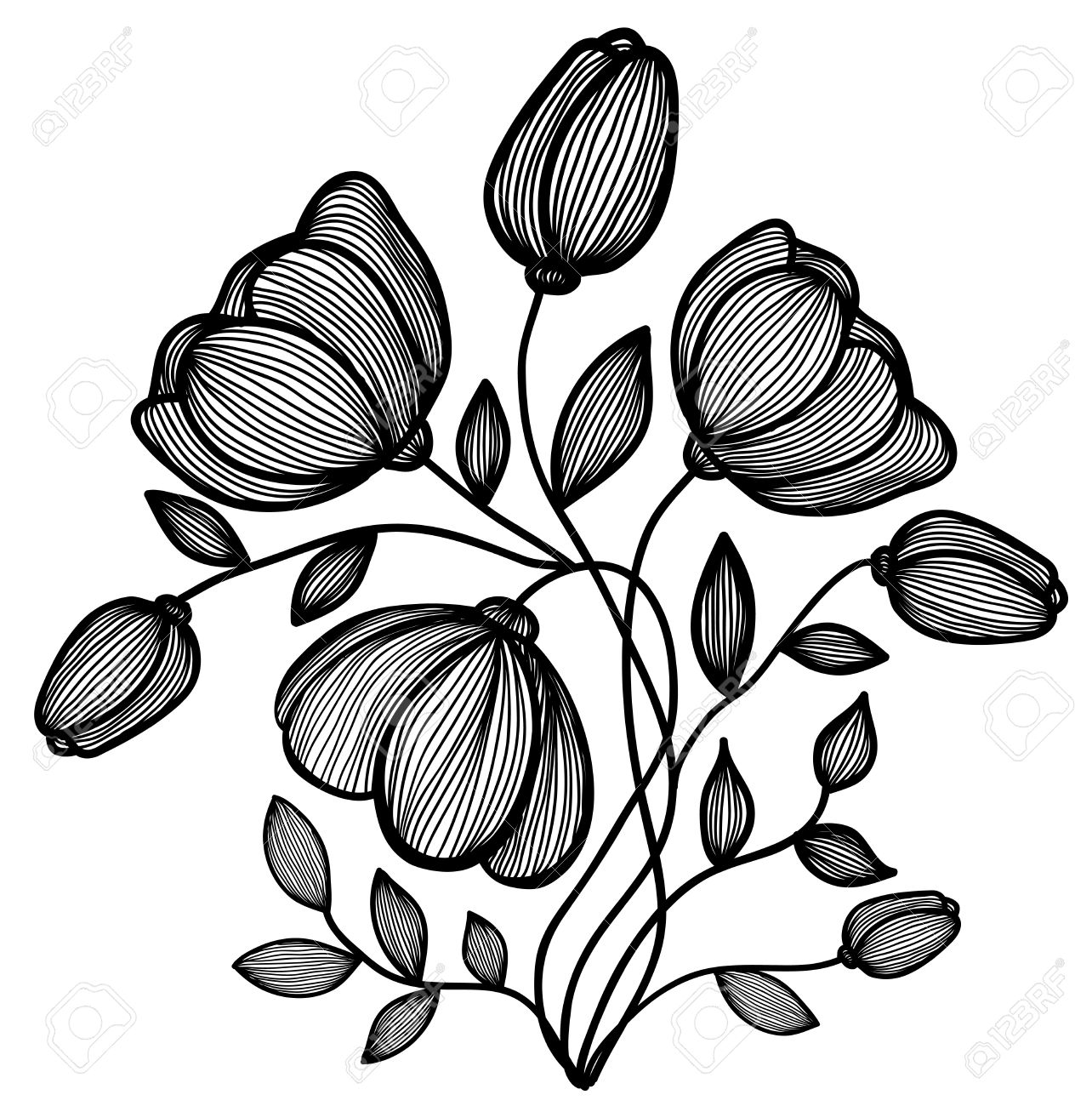 1284x1300 Black And White Pics Of Flowers Choice Image