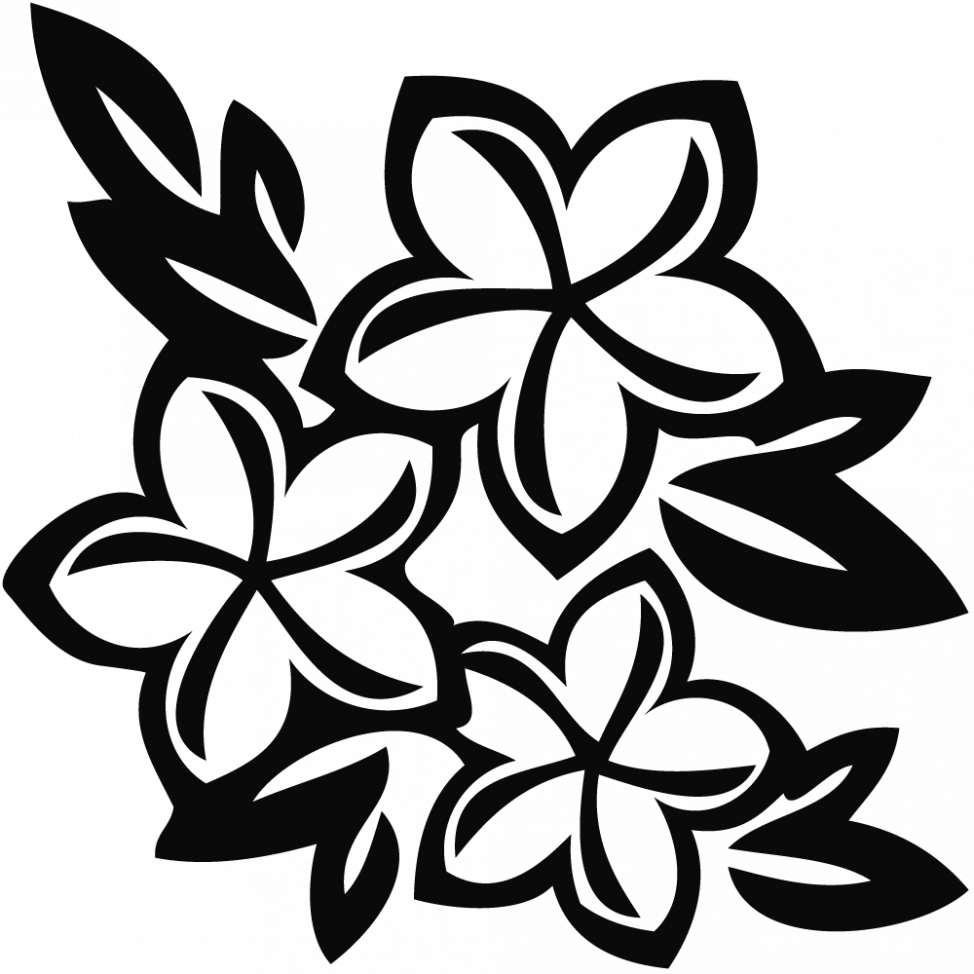 Black and white pictures of flowers to draw free download best 974x974 coloring pages drawn hawaiian flowers flower black and white izmirmasajfo