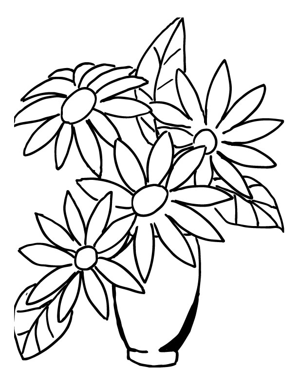 Simple Easy Bouquet Of Flowers Drawing