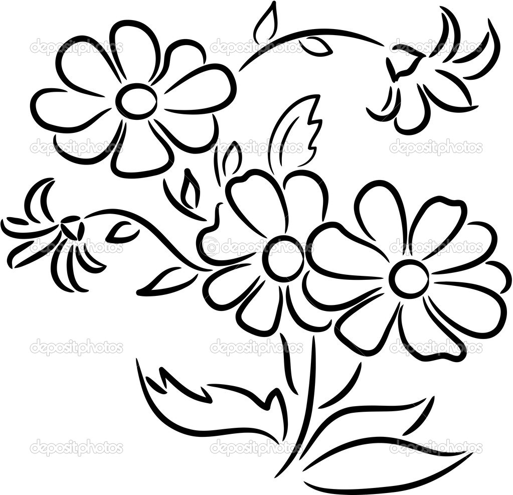 Black And White Pictures Of Flowers To Draw | Free download best ...