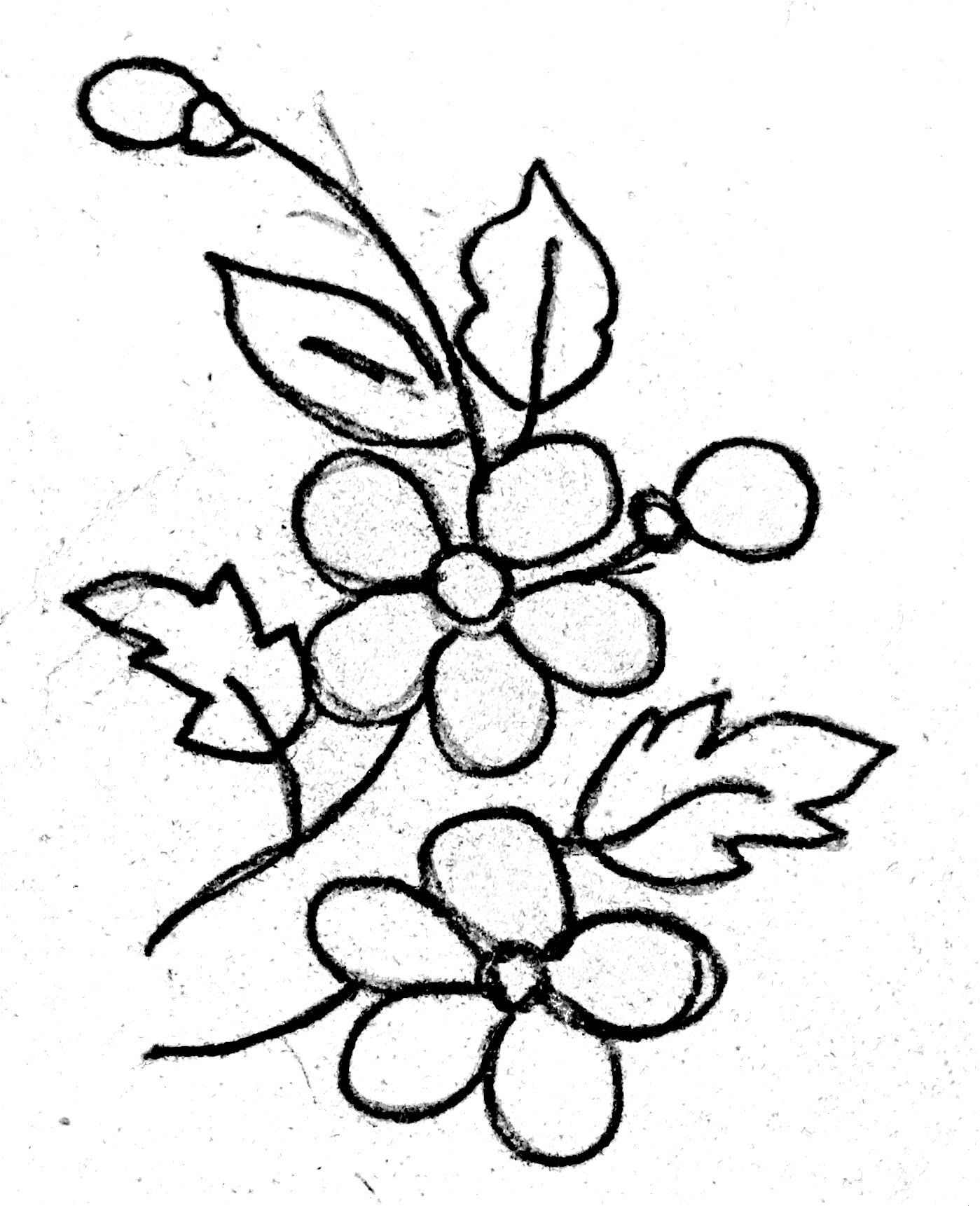 1399x1721 Flower Designs For Embroidery, Drawing Amp Painting, Fabric Printing