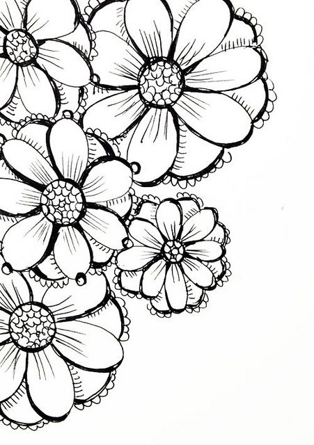 451x640 Img 6227 Doodles, Flowers And Zentangles