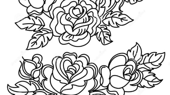 Black and white pictures of flowers to draw free download best 570x320 rose flower drawing pictures surprising coloring pages draw easy mightylinksfo