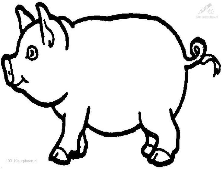 Black And White Pig Clipart