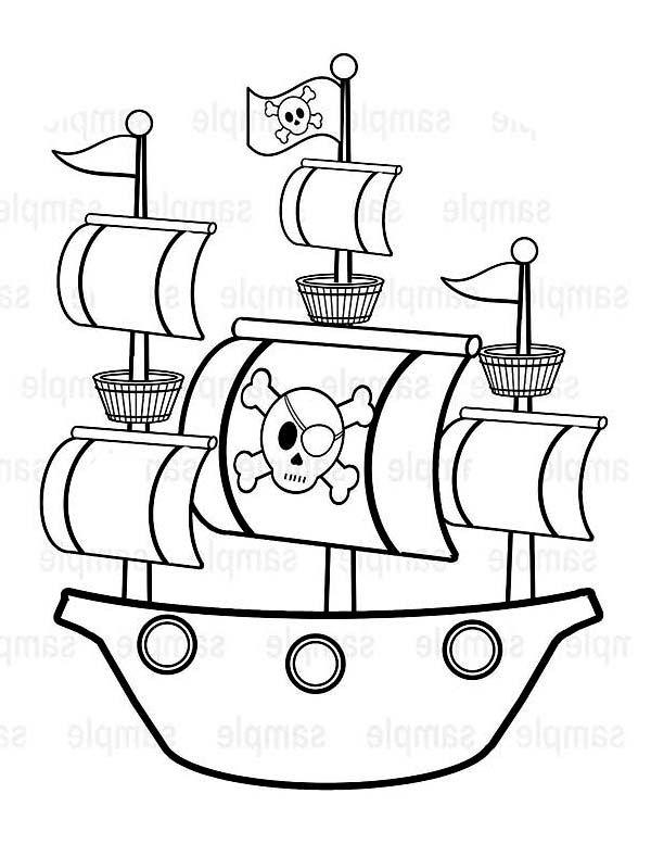 600x777 Drawn Pirate Easy