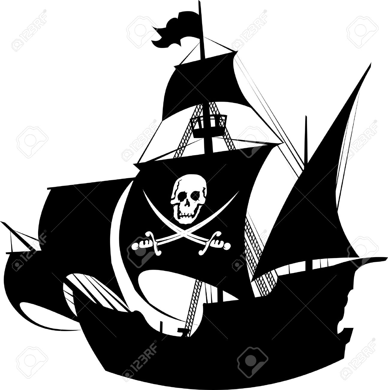 1294x1300 Old Sailing Ships Clipart Silhouette