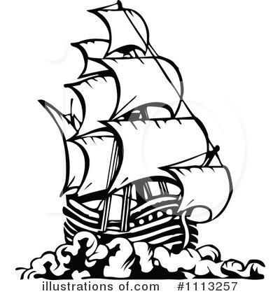 400x420 Pirate Ship Clipart