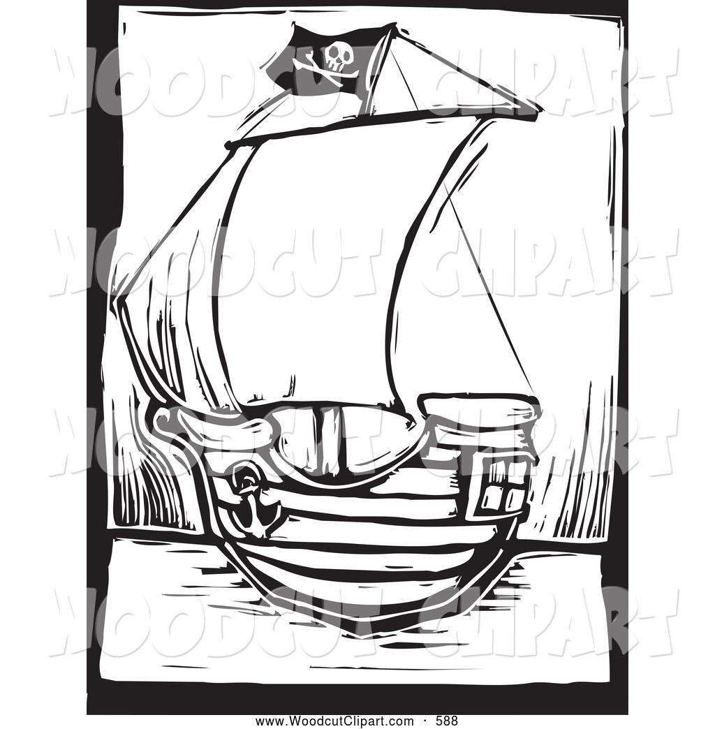 1024x1044 Pirate Ship Clipart Black And White Clipart Panda